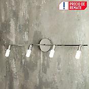 Riel Spot LED Bruce 4 Luces 320 Lúmenes 4w Cromo Acrilico