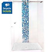 División para Baño Corrediza 140.1 a 150x180 cm Vidrio de 6 milímetros Amiga Barra Deslizante Elite