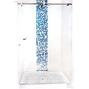 División para Baño Corrediza 150.1 a 160x180 cm Vidrio de 6 milímetros Amiga Barra Básica