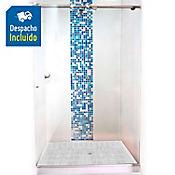 División para Baño Corrediza 90.1 a 100x180 cm Vidrio de 8 milímetros Premium Barra Deslizante Básica