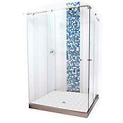 División para Baño Corrediza 80x80x180 cm Vidrio de 8 milímetros Premium Barra Deslizante Básica