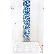 División para Baño Batiente 80.1 a 90x180 cm Vidrio de 8 milímetros Premium