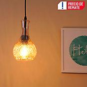 Lámpara Colgante Adele 1 Luz E27 Vidrio Café