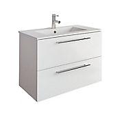 Mueble de baño Easy 80x56x45 cm 2 cajones - Blanco