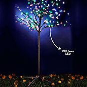 Árbol 150cm 200 Led Flores Multicolor