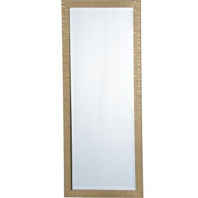 Espejo dorado lux 50x120 cm home collection 314290 - Fijaciones para espejos ...