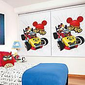 Roller Blackout Impreso 120 X 180 Mickey Sobre Ruedas