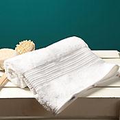 Toalla para Cuerpo Lines 70x135 cm 100% Algodón Turco Blanca