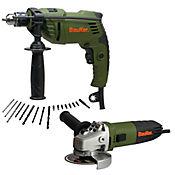 Kit Taladro Percutor 1/2 600W + Pulidora 4 1/2 820W