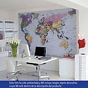 Fotomural Mapa Mundo 270x188 cm