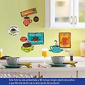 Sticker Tazas Café Multicolor