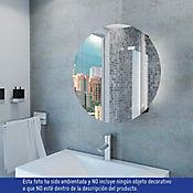 Gabinete para Baño Luce 60x60x14 cm 1 Puerta con Espejo Wengue