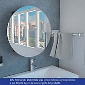 Gabinete para Baño Oval 60x60x14 cm 1 Puerta con Esepejo Wengue