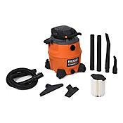 Aspiradora Sólidos y Líquidos 16 Galones Detach  6.5 HP Naranja