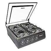 Estufa Sobremesa Acero Inoxidable 52 cm Gas Propano 4 Puestos SG-7054 AXXIS -07-P Gris