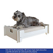 Cama Mascota Armable Color Blanco - Cojin Beige