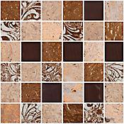 Mosaico Cerámico Persei 30x30 cm Café