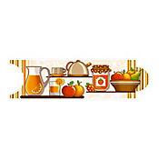 Listello para Cocina Lorca 8x25 cm Café