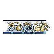Listello para Cocina Navarra 8x25 cm Azul