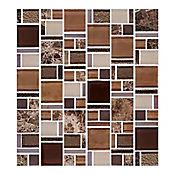 Mosaico Cerámico Terra 30x33 Centímetros Café