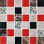 Mosaico Antares rojo 30x30cm