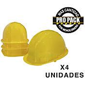 Casco Amarillo Propack x 4und