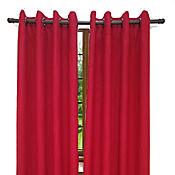 Set x2 Cortinas Shabby 140x218 cm Rojo