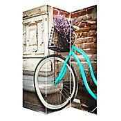 Biombo 120x180 cm Bici Azul Estampado