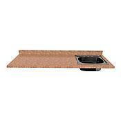Mesón para Cocina Postformado 180x60 cm con Poceta Derecha Mármol Coral