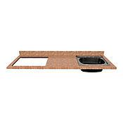 Mesón para Cocina Postformado 150x52 cm con Poceta Derecha y Perforación para Cubierta Izquierda Mármol Coral