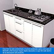 Mesón para Cocina Postformado 150x52 cm con Poceta Izquierda y Perforación para Cubierta Derecha Verde Ubatuba