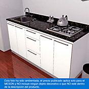 Mesón para Cocina Postformado 180x52 cm con Poceta Izquierda y Perforación para Cubierta Derecha Verde Ubatuba