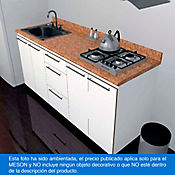 Mesón para Cocina Postformado 180x52 cm con Poceta Izquierda y Perforación para Cubierta Derecha Mármol Coral