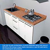 Mesón para Cocina Postformado 180x60 cm con Poceta Izquierda y Perforación para Cubierta Derecha Mármol Coral