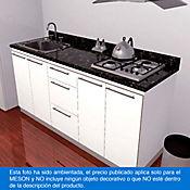 Mesón para Cocina Postformado 220x60 cm con Poceta Izquierda y Perforación para estufa empotrable Derecha Verde Ubatuba