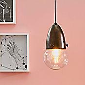 Lámpara Colgante Bomba 1 Luz E27 Cristal