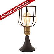 Lámpara de Mesa Lorus 1 Luz E27 Negro
