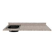 Mesón para Cocina Postformado 180x60 cm con Poceta Izquierda Jaspe Claro