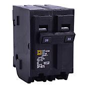 Mini Breaker Homeline, 2 Polos, 40 A, 10 kA, 120-240 V AC, Enchufable