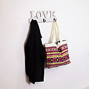 Perchero 3 Perchas Love 40 x 14 cm