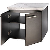 Mueble para Baño Elevado 51x61.5x56.5 cm Carrara/Wengue