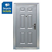 Puerta Seguridad Prepintada 6 Paneles