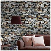 Mural Piedra Gris 53 cm x10 Mts Zen