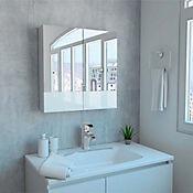 Gabinete para Baño Lusso 60.2x60x12.3 cm 2 Puertas con Espejo Blanco
