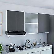 Mueble de Cocina Superior 1.80 metros Milano 6 Puertas Plomo