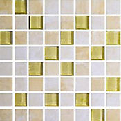 Mosaico Cerámico Cuadro Sofisticata 28.2x 28.2 Centímetros Blanco