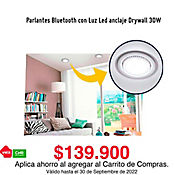 Parlantes Bluetooth Con Luz Led Anclaje Drywall 30W