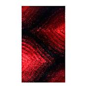 Tapete Visak  60x110 cm Negro/Rojo