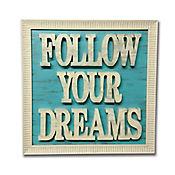 Cuadro Letras Caladas 35x35 cm Dreams