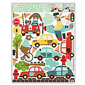 Sticker 1 Lamina Animales Transportes